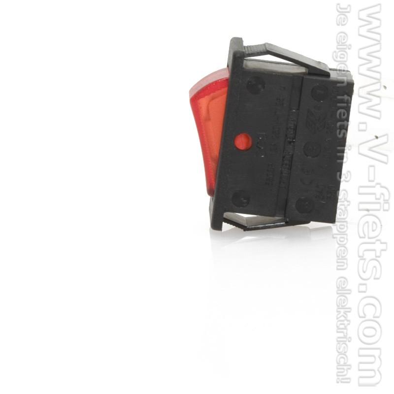 V-fiets-On / Off Switch LIPO battery 36V-32