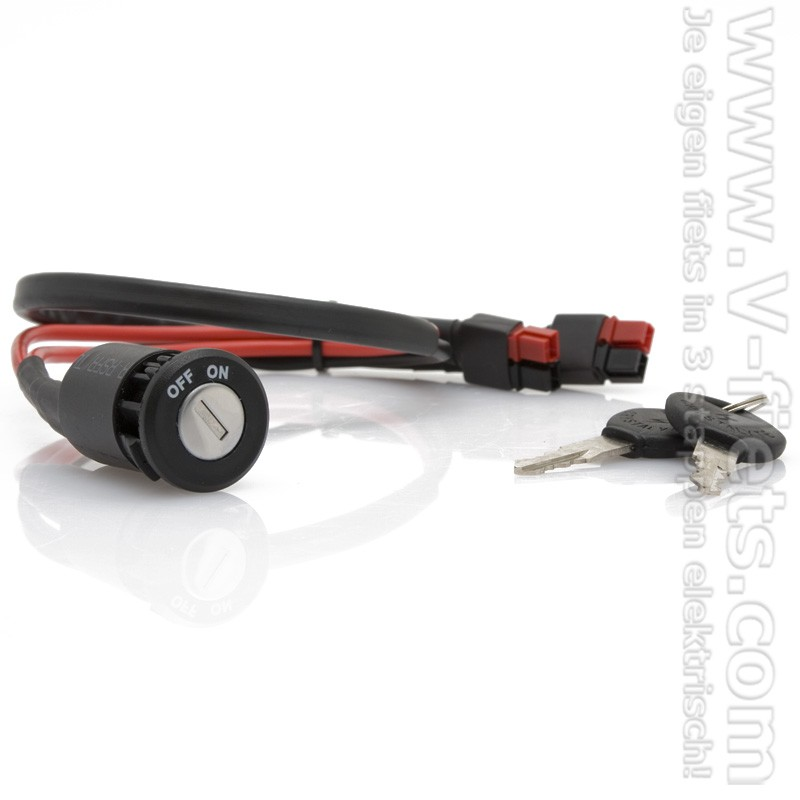 V-fiets-Key switch battery along with cable included-32