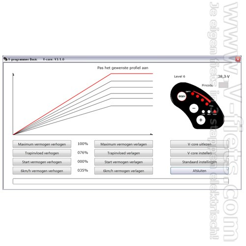 V-fiets-V-programmer Basic Software (Dutch)-33