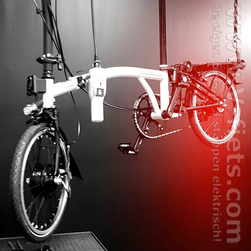Brompton Electric Folding Bike set lightweight | V-fiets