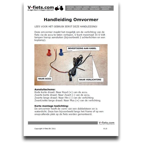 V-fiets-V-Omvormer Handleiding voor verlichting (2011-2013)-32