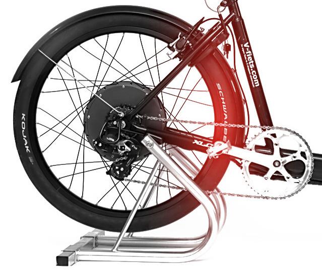 V-fiets Crystalyte V-HT Hub Motor