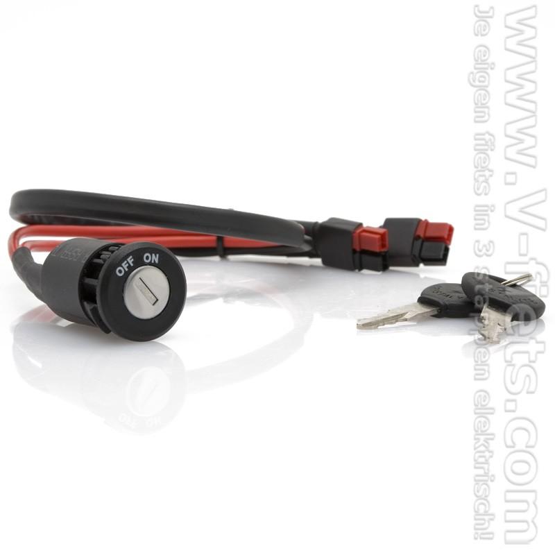 V-fiets-Accu Contactslot plus kabel-32