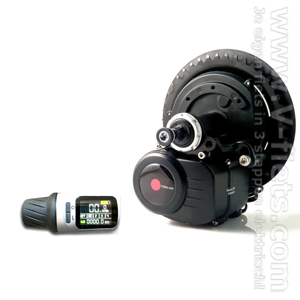 V-fiets-Fiets/Ebike Middenmotor V-SP2-CB Grip LCD-311